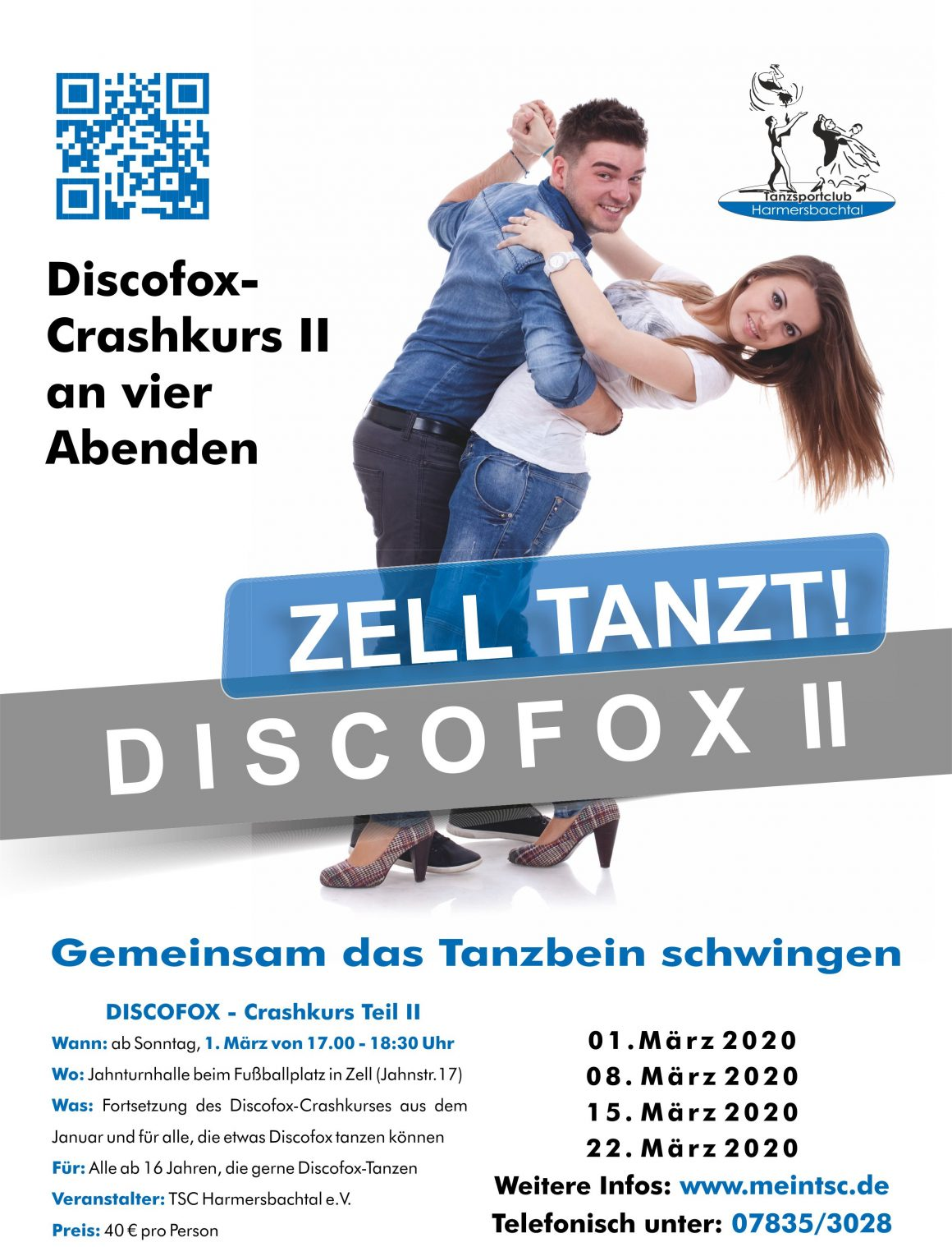 Zell tanzt! Discofox Crashkurs II